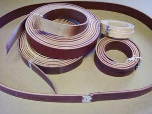 custom leather drive belts single ply 11 64 up to 4